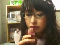 【無修正】気持ちいいですか?メガネっ娘セフレのフェラ映像