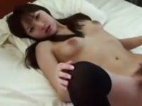 【無修正】めちゃカワ娘にテレフォンセックスさせた後に中出し!!