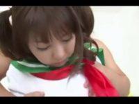 【無修正】パイパンツインテJKを連続中出しハメ!!
