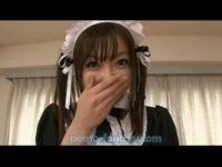 【無修正】激カワ美少女メイドのご奉仕フェラがエロすぎたwww
