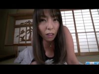 【無修正】巨乳熟女が高速フェラで起こしてくれた!! 村上涼子