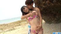 【無修正】巨乳美少女とビーチSEXをきこしめす!! 前田陽菜
