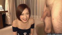 【無修正HD】外国人とヤっていそうなセクシーな美女の2連続フェラ抜き