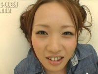 【無修正】笑顔が素敵なスレンダーなつるまん美女の2本指入れオナニー&ディルド責め!的場怜(宮村恋)
