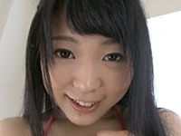 【無修正】綺麗な1本スジの幼い清楚な美少女が白の透けパンツ姿で指オナニー!川越ゆい
