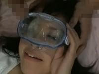 【無修正】RQコスでレンズなしの水中メガネの中に大量に顔射されながら連続中出し!遠藤ありさ