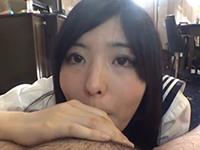 【無修正】アイドル顔の清楚な女子大生にセーラーコスで直穿きパンストのまま種付け中出し!素人みる21歳【個人撮影】