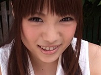 【無修正】某グラドル似のぽっちゃりFカップの巨乳美少女がホースで水責めされたマンコを野外でオナニー!沙藤ユリ