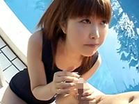 【無修正】水泳レッスンを受けるはずの少女がセクハラされてぶっかけ!田畑百子