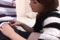 【無修正】ムチムチの可愛いお姉さんが激しい手コキフェラ