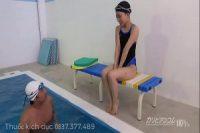【無修正】【無】かわいく引き締まった体の水泳ロリ美少女とデカチン中出し。